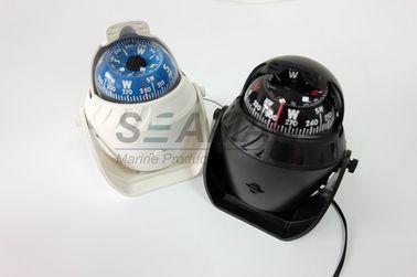 Compasso náutico marinho plástico do barco com o branco claro/preto do diodo emissor de luz